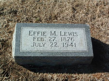 LEWIS, EFFIE M. - Mills County, Iowa | EFFIE M. LEWIS