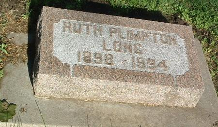 PLIMPTON LONG, RUTH - Mills County, Iowa | RUTH PLIMPTON LONG