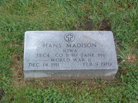 MADISON, HANS - Mills County, Iowa   HANS MADISON