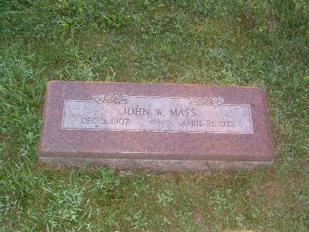 MASS, JOHN W. - Mills County, Iowa | JOHN W. MASS