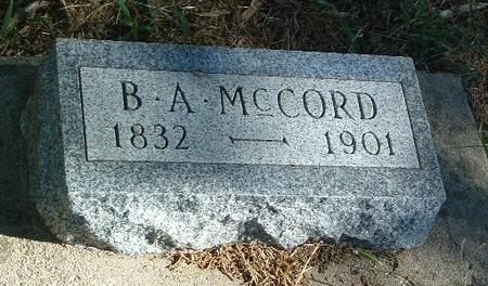 MCCORD, B.A. - Mills County, Iowa | B.A. MCCORD