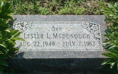MCDONOUGH, LESTER L. - Mills County, Iowa | LESTER L. MCDONOUGH