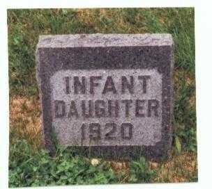 MEEKS, INFANT DAUGHTER - Mills County, Iowa   INFANT DAUGHTER MEEKS