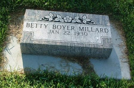 BOYER MILLARD, BETTY - Mills County, Iowa | BETTY BOYER MILLARD