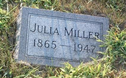 MILLER, JULIA - Mills County, Iowa | JULIA MILLER