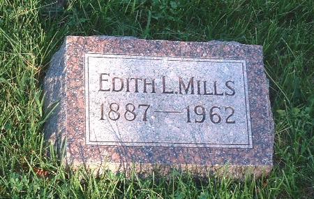 MILLS, EDITH L. - Mills County, Iowa   EDITH L. MILLS