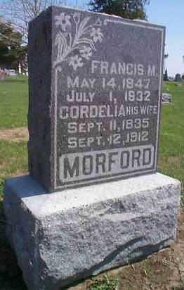 MORFORD, CORDELIA - Mills County, Iowa | CORDELIA MORFORD
