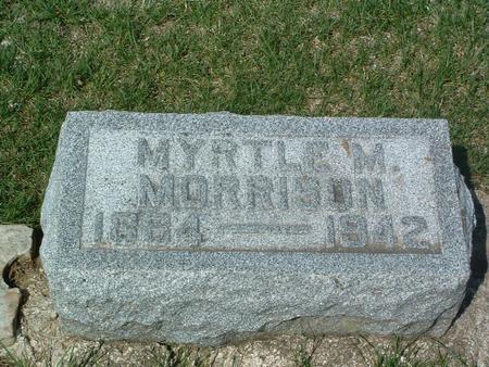 MORRISON, MYRTLE M. - Mills County, Iowa | MYRTLE M. MORRISON