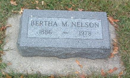 NELSON, BERTHA M. - Mills County, Iowa | BERTHA M. NELSON