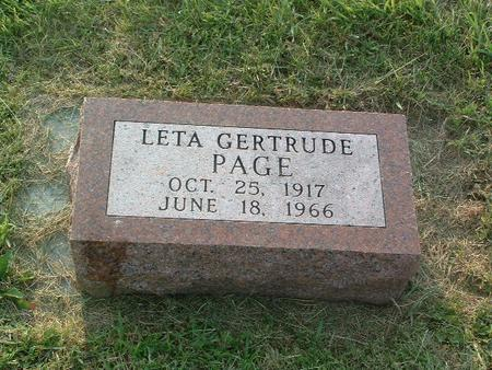 PAGE, LETA GERTRUDE - Mills County, Iowa | LETA GERTRUDE PAGE