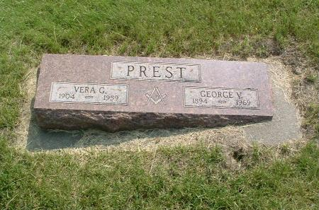 PREST, GEORGE V. - Mills County, Iowa | GEORGE V. PREST
