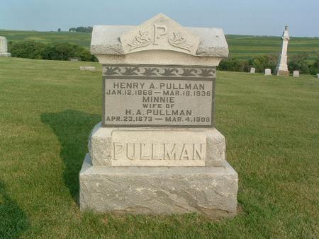PULLMAN, MINNIE - Mills County, Iowa | MINNIE PULLMAN