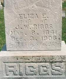 PHILLIPS RIGGS, ELIZA E - Mills County, Iowa | ELIZA E PHILLIPS RIGGS