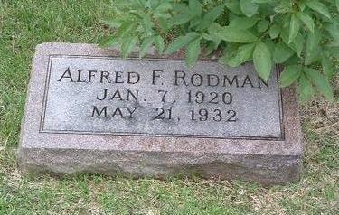 RODMAN, ALFRED F. - Mills County, Iowa | ALFRED F. RODMAN