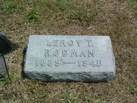 RODMAN, LEROY T. - Mills County, Iowa | LEROY T. RODMAN