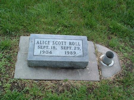 SCOTT ROLL, ALICE - Mills County, Iowa | ALICE SCOTT ROLL