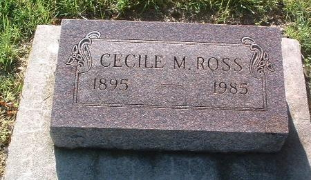 ROSS, CECILE M. - Mills County, Iowa | CECILE M. ROSS