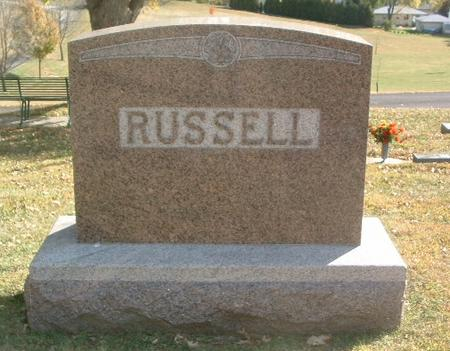 RUSSELL, FAMILY HEADSTONE - Mills County, Iowa | FAMILY HEADSTONE RUSSELL