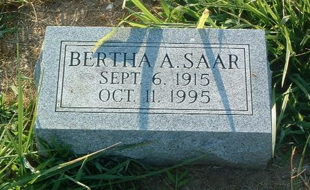 SAAR, BERTHA A. - Mills County, Iowa | BERTHA A. SAAR