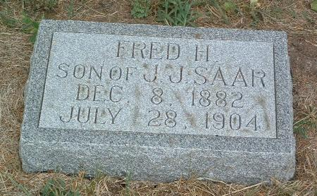 SAAR, FRED H. - Mills County, Iowa | FRED H. SAAR