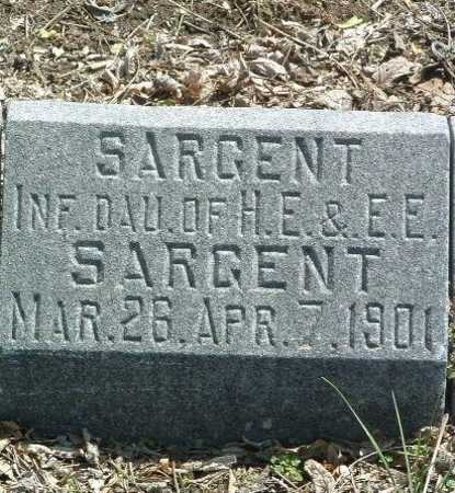 SARGENT, INFANT DAUGHTER - Mills County, Iowa | INFANT DAUGHTER SARGENT