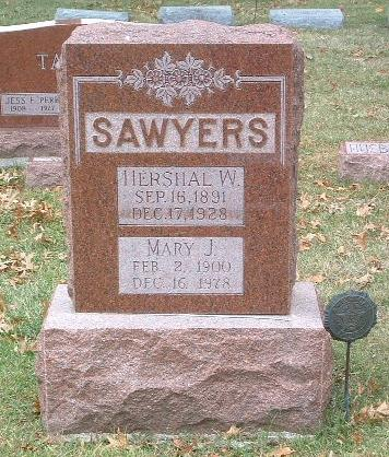 SAWYERS, MARY J. - Mills County, Iowa | MARY J. SAWYERS