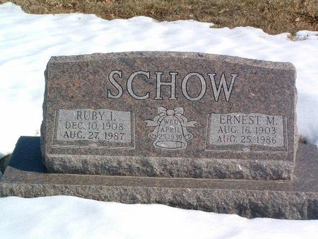 SCHOW, RUBY I. - Mills County, Iowa | RUBY I. SCHOW