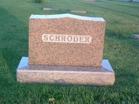 SCHRODER, FAMILY HEADSTONE - Mills County, Iowa | FAMILY HEADSTONE SCHRODER