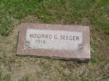 SEEGER, HOWARD G. - Mills County, Iowa | HOWARD G. SEEGER