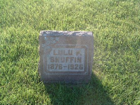 SNUFFIN, LULU P. - Mills County, Iowa | LULU P. SNUFFIN