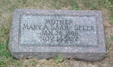 SPEER, MARY A. - Mills County, Iowa | MARY A. SPEER