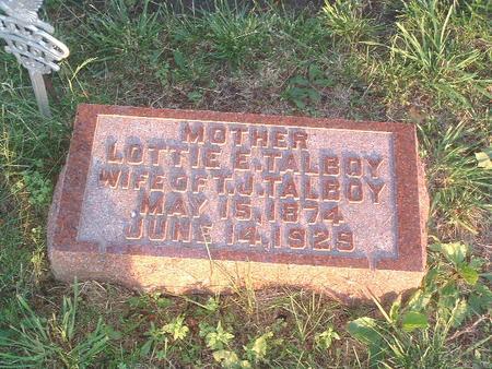 TALBOY, LOTTIE E. - Mills County, Iowa | LOTTIE E. TALBOY