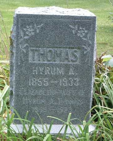 THOMAS, HYRUM A. - Mills County, Iowa | HYRUM A. THOMAS