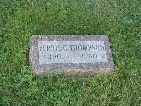 THOMPSON, FERRIL G. - Mills County, Iowa | FERRIL G. THOMPSON