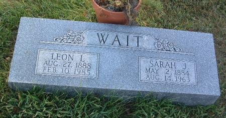 WAIT, SARAH J. - Mills County, Iowa | SARAH J. WAIT