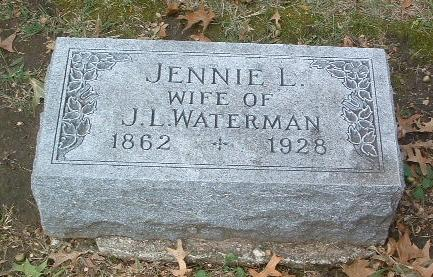 WATERMAN, JENNIE L. - Mills County, Iowa | JENNIE L. WATERMAN