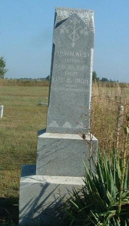 WEST, JOHN M. - Mills County, Iowa | JOHN M. WEST