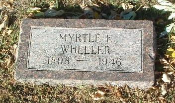 WHEELER, MYRTLE E. - Mills County, Iowa | MYRTLE E. WHEELER