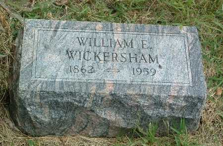 WICKERSHAM, WILLIAM E. - Mills County, Iowa | WILLIAM E. WICKERSHAM