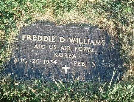 WILLIAMS, FREDDIE D. - Mills County, Iowa | FREDDIE D. WILLIAMS
