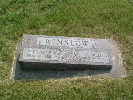 WINSLOW, E.BERNICE - Mills County, Iowa | E.BERNICE WINSLOW