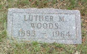 WOODS, LUTHER M. - Mills County, Iowa | LUTHER M. WOODS
