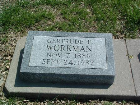 WORKMAN, GERTRUDE E. - Mills County, Iowa | GERTRUDE E. WORKMAN