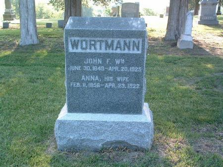 WORTMANN, JOHN F. WM. - Mills County, Iowa | JOHN F. WM. WORTMANN