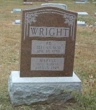 WRIGHT, MYRTLE - Mills County, Iowa | MYRTLE WRIGHT