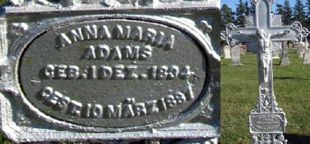 ADAMS, ANNA MARIA - Mitchell County, Iowa | ANNA MARIA ADAMS