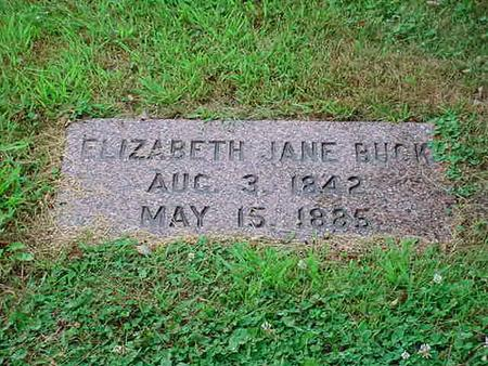 BUCK, ELIZABETH JANE - Mitchell County, Iowa | ELIZABETH JANE BUCK
