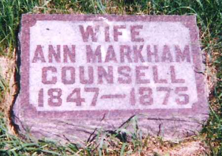 MARKHAM COUNSELL, ANN - Mitchell County, Iowa | ANN MARKHAM COUNSELL