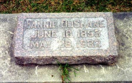DUSHANE, FANNIE - Mitchell County, Iowa | FANNIE DUSHANE