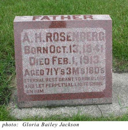 ROSENBERG, AUGUST HERMAN - Mitchell County, Iowa | AUGUST HERMAN ROSENBERG